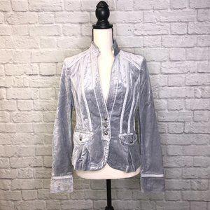 Military-Style Velvet Blazer